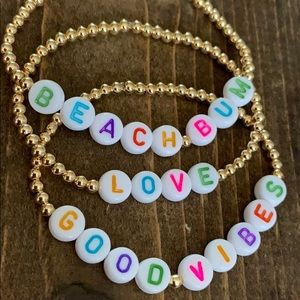 Jewelry - 🌈Gold plated letter bracelet⚡️
